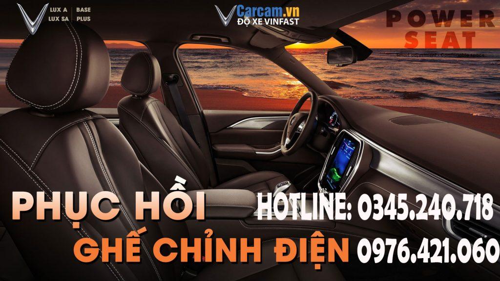 Lắp đặt ghế chỉnh điện tự động, nhớ vị trí ghế xe Vinfast Lux A, Lux SA.