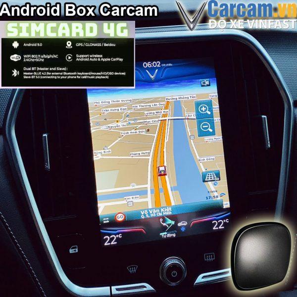 android box cho màn nguyên bản vinfast lux A SA