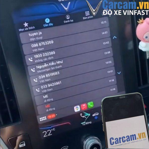 carplay màn hình vinfast lux