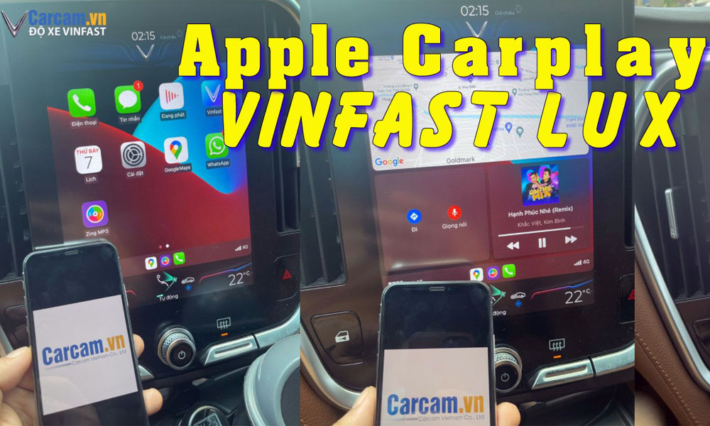 Cài đặt apple carplay màn hình vinfast lux